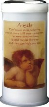 Angel Pillar Candle 15cm