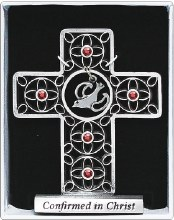 F4652 Confirmation Pewter Celtic  Cross 12cm