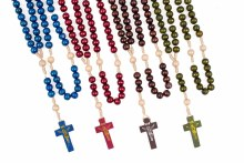 Assorted Wooden Cord Rosary Beads
