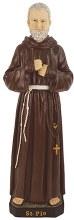 48561 St Pio Fibreglass Statue 60cm
