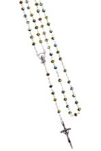 Yellow Crystal Rosary Beads