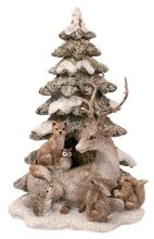 687752 Christmas Tree and Forest Animals 20cm