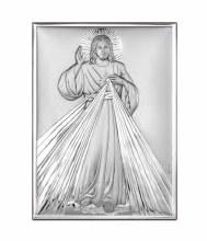 Divine Mercy Sterling Silver Icon (18 x 13 cm)