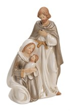 10022405 Cream Porcelain Holy Family 16cm