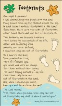 1146841  Footprints  Prayercard