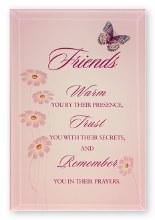 Friends Glass Plaque