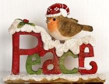 Christmas Peace Robin (14cm)