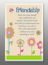 Friendship Glass Plaque 18 x 13 cm