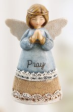 Blue Pray Angel 10cm