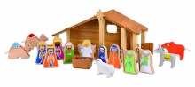 EverEarth Eco Wooden Nativity includes 13 figures