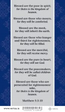 The Beatitudes Prayer card