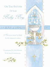 V106003 Baptism Boy Card