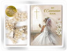 First Holy Communion Pearl Rosary Beads
