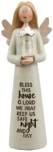 39800 Bless This House Message Angel  13cm