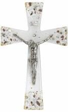 Gianicolo Murano Glass Crucifix with Silver Corpus (26cm)