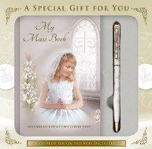 Girl First Holy Communion Set with Prayerbook