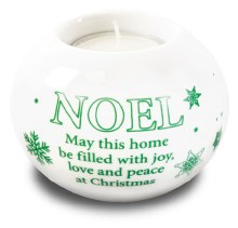 Noel Porcelain Tealight Holder