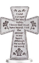 I said A Prayer Pewter Cross (8cm)