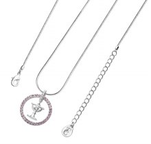 Chalice in Pink Halo Necklace