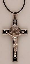 Black St benedict Crucifix (8cm)