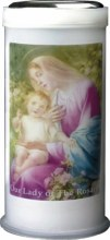 Our Lady of the Rosary Pillar Candle