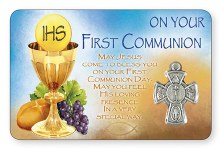 Symbolic First Holy Communion Prayercard