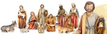 11 piece Nativity Set (10cm)