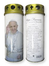Pope Francis Windproof Candle