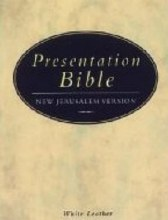 New Jerusalem Bible Pocket Leather White