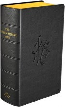 REPRINT 2021 ** Daily Missal 1962, Black leather