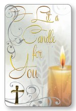 I Lit A Candle Laminated Prayer Leaflet
