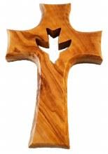 Olive Wood Crucifix  (12.5cm)