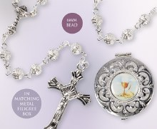Silver First Holy Communion Rosary