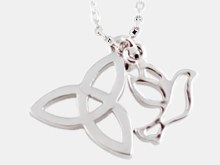 Confirmation Trinity Knot and Dove Gift Box