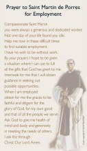 Prayer to St.Martin De Porres for Employment