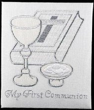 First Holy Communion Embroidered Photo