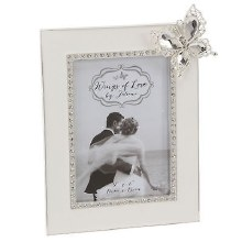 Wings of Love Wedding Frame holds 4 x 6 Photo