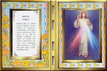 Divine Mercy Glass Plaque