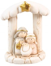 Holy Family with Gold Trim (8cm)