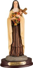 St Theresa Resin Statue (38cm)
