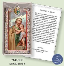 St Joseph Prayercard and Medal