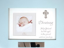 Blue Wood Musical Christening Keepsake Box