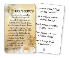 Footprints wallet card