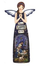 Peace Love Joy Glazed Porcelain Angel (24cm)