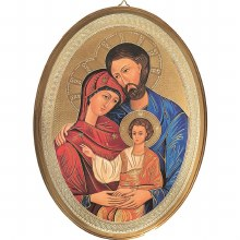 Holy Family Oval Icon (30 x 22cm)