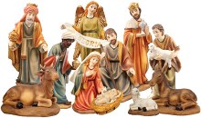 11 piece Traditional Nativity Pieces 20cm