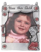 Pewter Photo Frame with praying girl