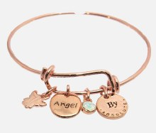 KLB18RS Rose Gold Guardian Angel Bangle