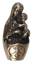 Bronze Madonna and Child Font