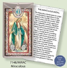 Miraculous Prayercard and Medal